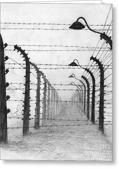 Auschwitz  Greeting Card by Annemeet Hasidi- van der Leij