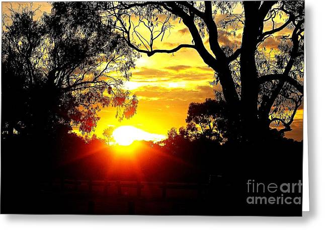 Greeting Card featuring the photograph Aussie Sunset by Blair Stuart
