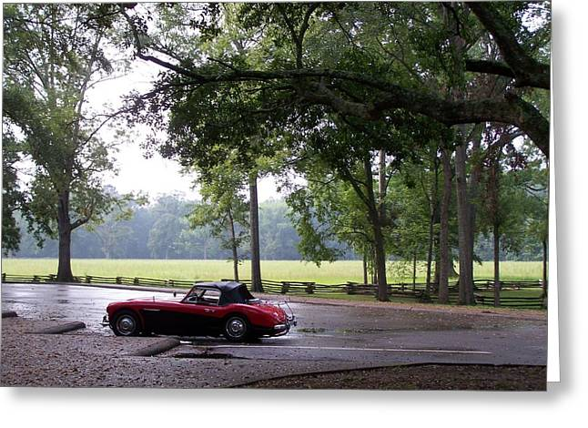 Greeting Card featuring the photograph Austin Healey 100-6 by Richard Willows