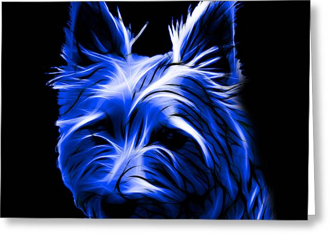 Australian Terrier Pop Art - Blue Greeting Card