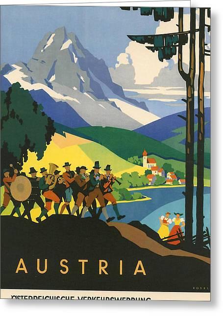 Austrian Alps Greeting Card by Georgia Fowler