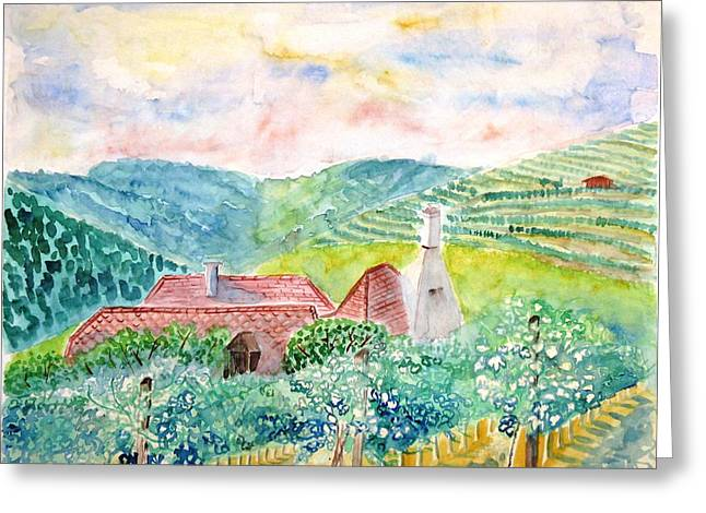 Austrian Vineyards Greeting Card