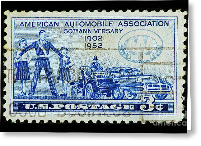 Greeting Card featuring the photograph Automobile Association Of America by Andy Prendy