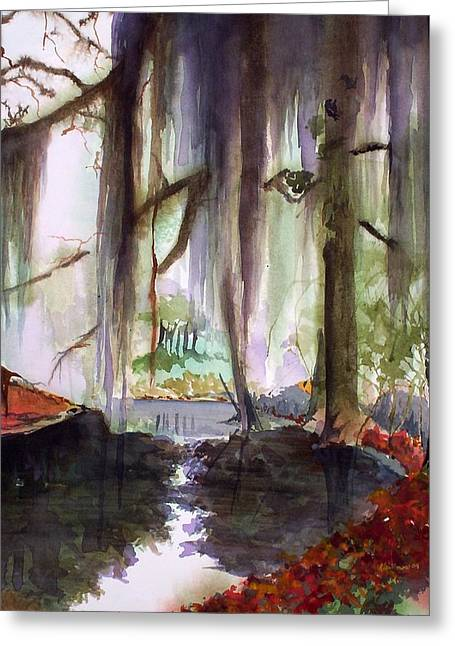 Autum Bayou Greeting Card