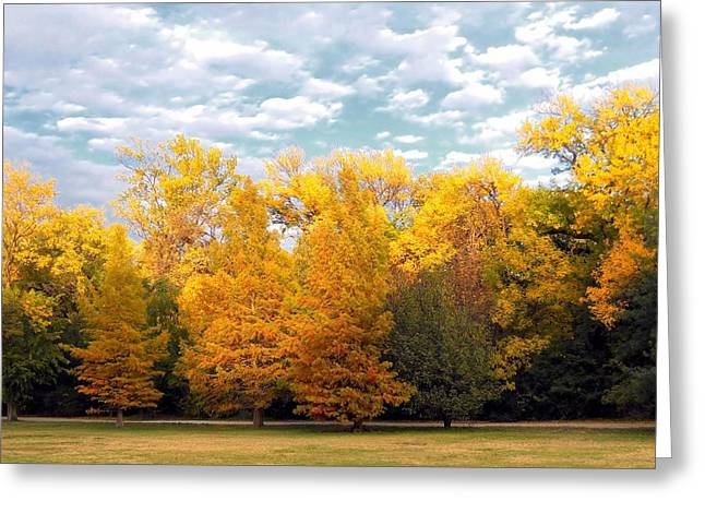 Autum In Texas Greeting Card