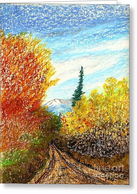 Autumn Ablaze Greeting Card