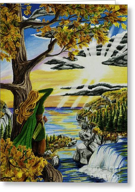 Autumn Archer Greeting Card by Robert Thornton