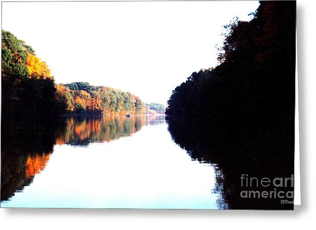 Autumn At Dusk From A Canoe Greeting Card