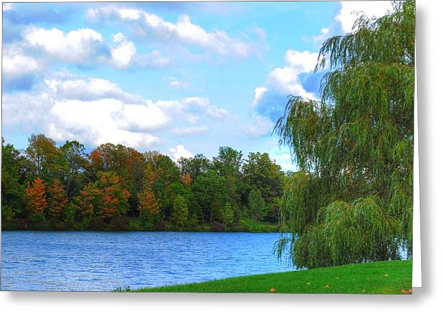 Greeting Card featuring the photograph Autumn At Hoyt Lake by Michael Frank Jr