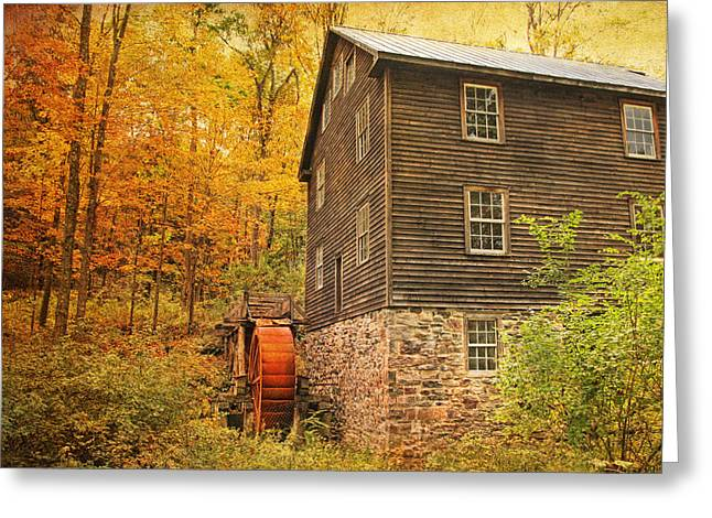Autumn At Millbrook 4 - The Grist Mill Greeting Card