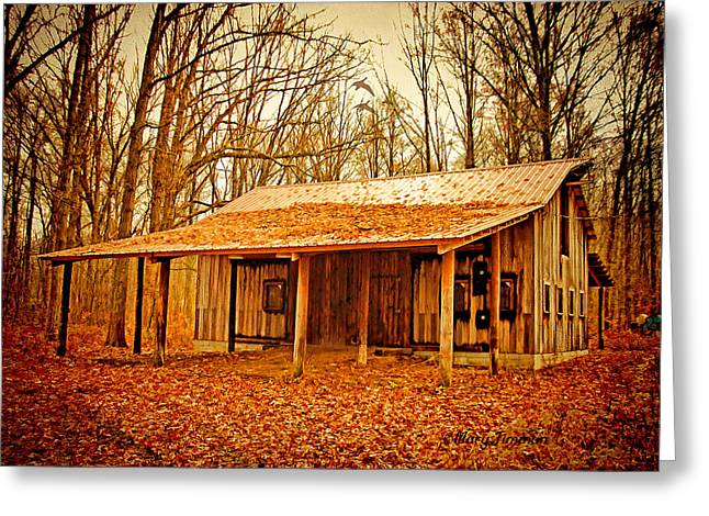 Greeting Card featuring the photograph Autumn Barn by Mary Timman