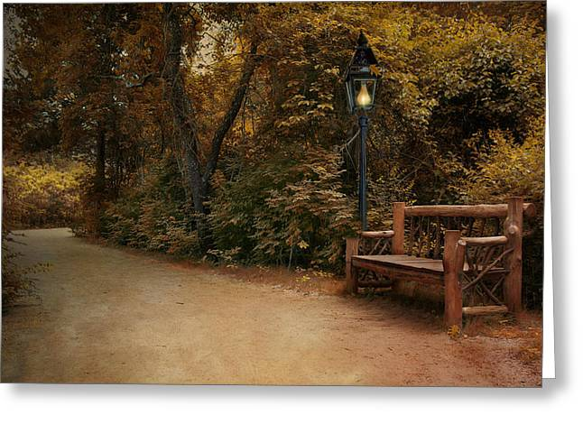 Greeting Card featuring the photograph Autumn Beckons by Robin-Lee Vieira