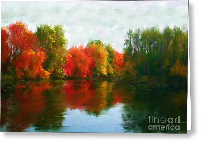Autumn Blaze Greeting Card by Earl Jackson