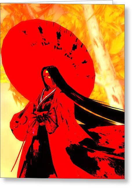 Autumn Blossom - Red Haze Greeting Card