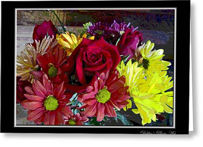 Greeting Card featuring the digital art Autumn Boquet by Debbie Portwood