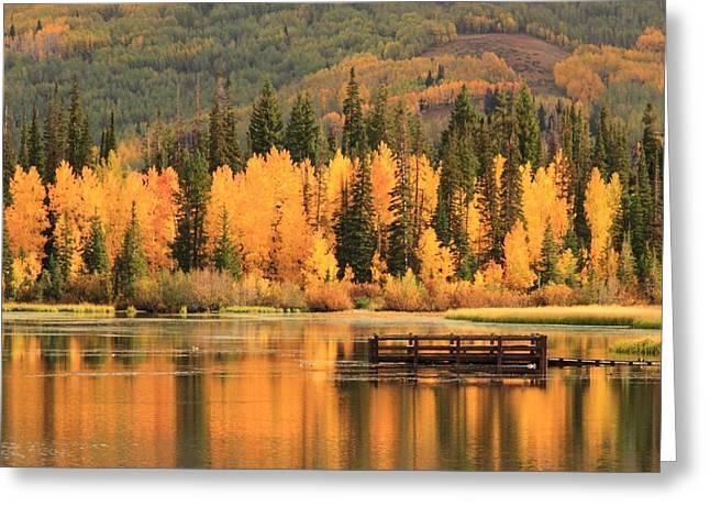 Autumn Calm Greeting Card by Gene Praag