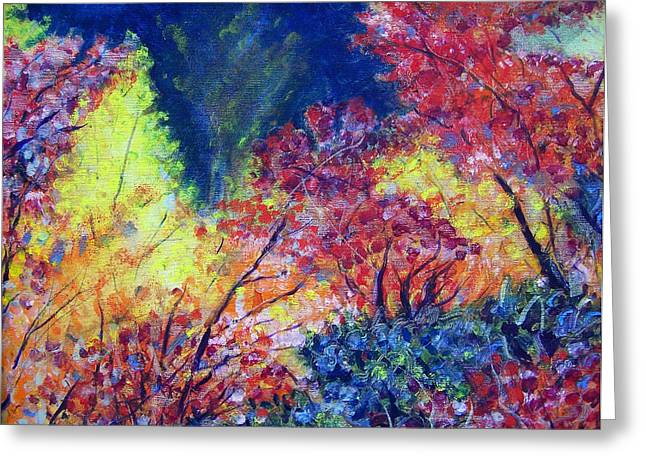Autumn Color Greeting Card by Jon Shepodd