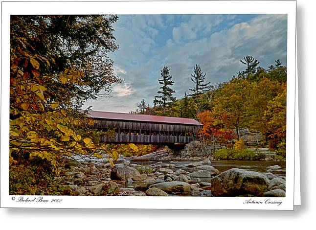 Greeting Card featuring the photograph Autumn Crossing by Richard Bean