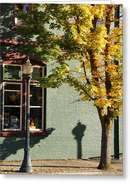 Autumn Detail In Old Town Grants Pass Greeting Card by Mick Anderson