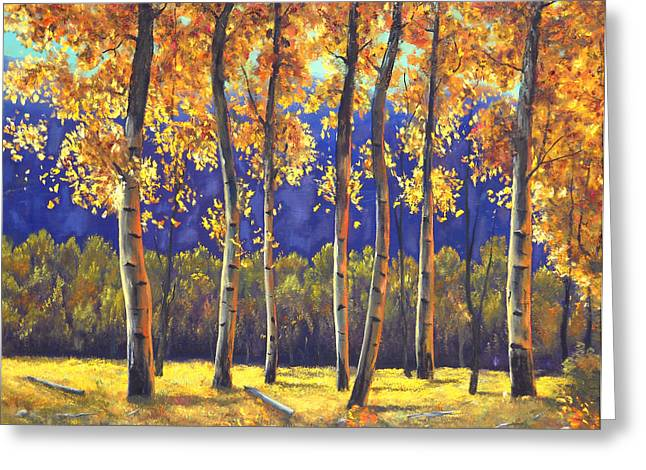 Autumn Glow Greeting Card by Connie Tom