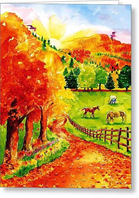 Autumn Graze Greeting Card by Sloane FinneganAllen