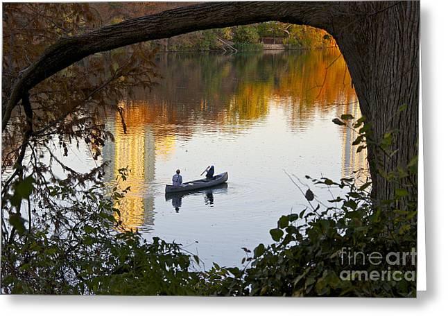 Autumn Idyll On Lake Austin Greeting Card by Sean Griffin