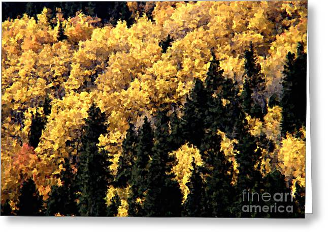Autumn In Colorado Painting Greeting Card by Donna Greene