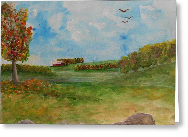 Autumn In New York Greeting Card by Barbara McNeil