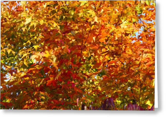 Autumn In October Greeting Card by Anthony Rego