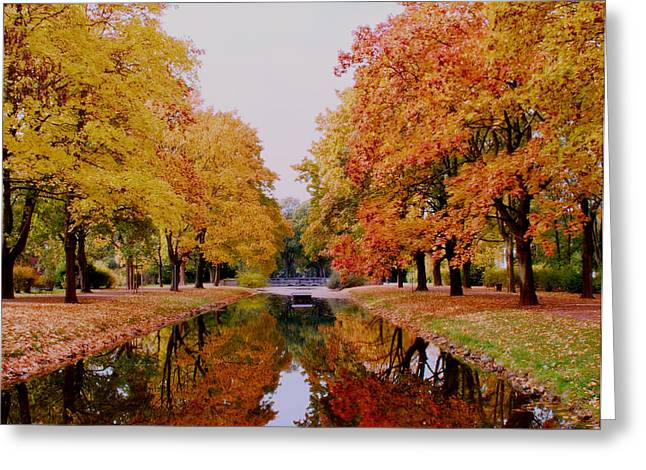 Autumn In The Mirror Greeting Card by Sarah Caroline Frerich