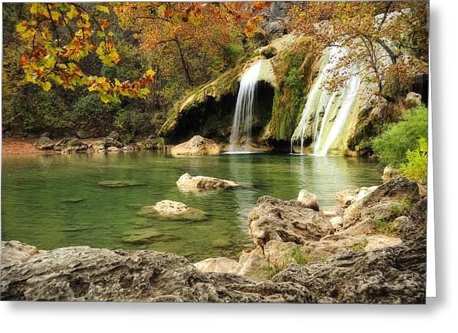 Autumn In Turner Falls Greeting Card by Iris Greenwell