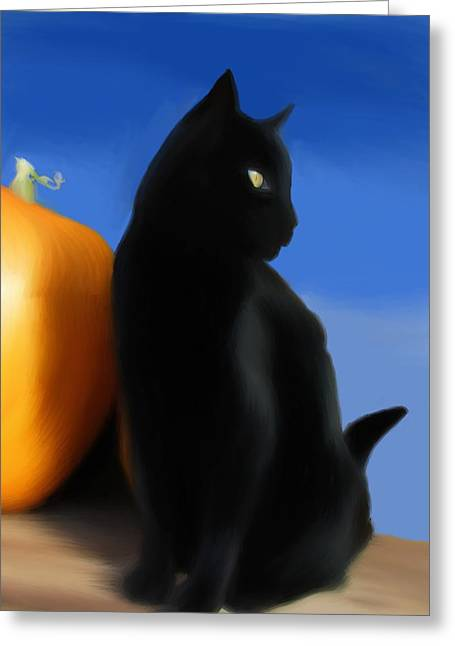 Autumn Kitty Greeting Card by Stacy Parker