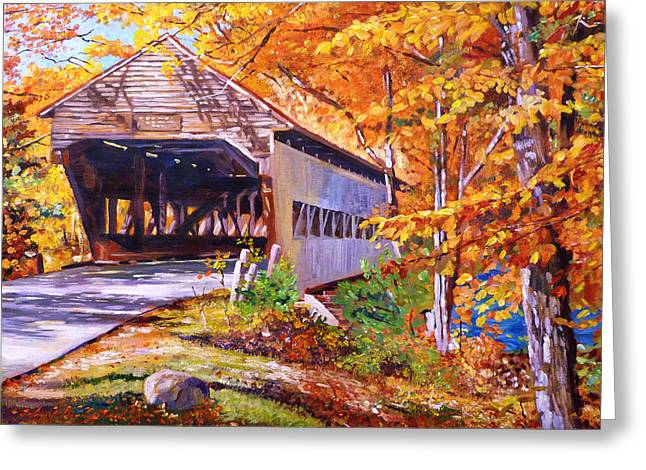 Autumn Love Story Greeting Card by David Lloyd Glover