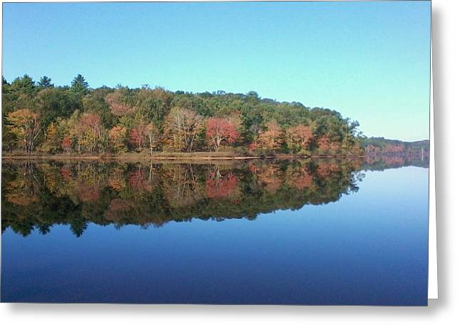 Autumn Mirror Greeting Card by Edwin Alverio