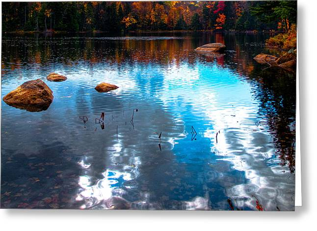 Autumn On Cary Lake Greeting Card by David Patterson