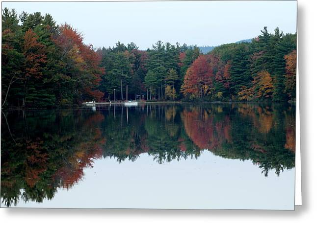 Autumn On The Lake Greeting Card by Lois Lepisto