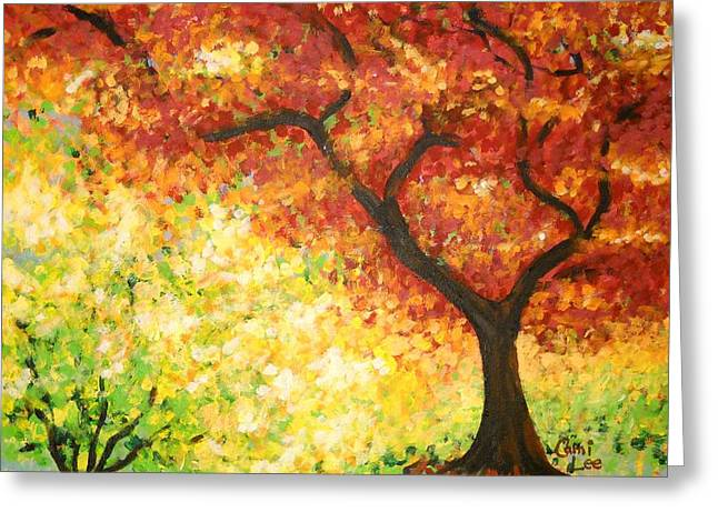 Autumn Rainbow Greeting Card
