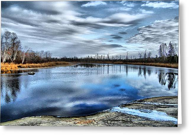 Greeting Card featuring the photograph Autumn Reflection by Blair Wainman