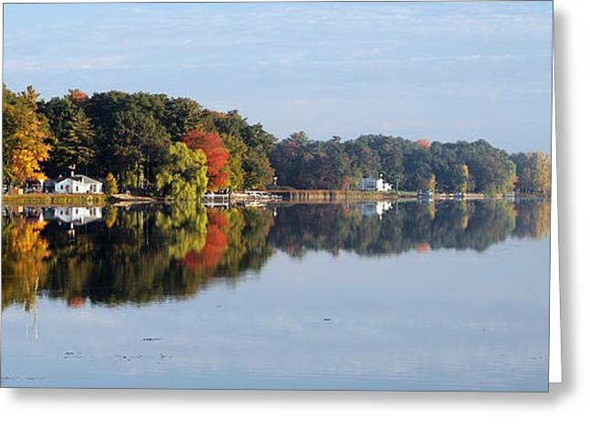 Greeting Card featuring the photograph Autumn Reflection On The Peshtigo River by Mark J Seefeldt