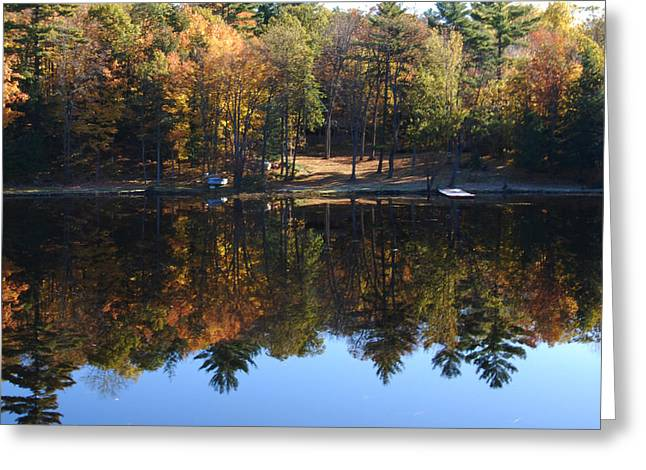 Autumn Reflections Greeting Card by Kim French