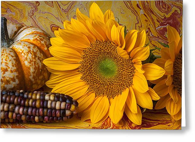 Autumn Still Life Greeting Card by Garry Gay