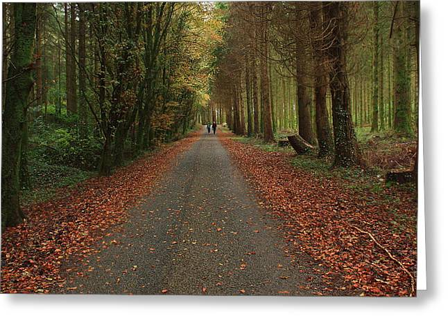 Autumn Stroll. Greeting Card