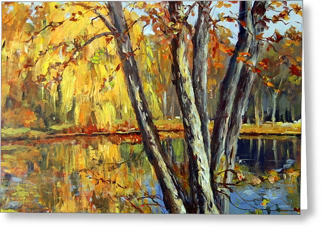 Autumn Sunlight Greeting Card by Alexandra Maria Ethlyn Cheshire
