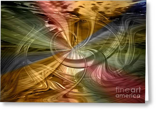 Greeting Card featuring the digital art Autumn Symphony by Johnny Hildingsson