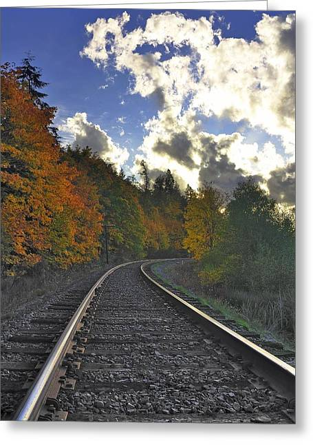 Autumn Tracks Greeting Card
