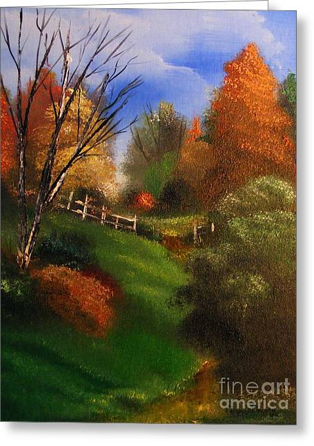 Autumn Trail  Greeting Card by Crispin  Delgado