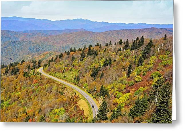Autumn Travel Greeting Card by Susan Leggett