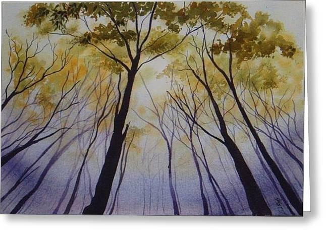 Autumn Trees Greeting Card by Carol McLagan