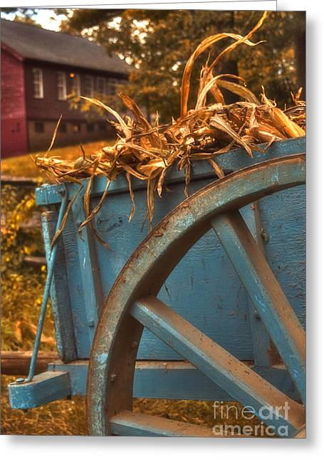 Autumn Wagon Greeting Card