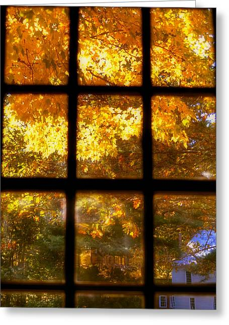 Autumn Window 2 Greeting Card by Joann Vitali